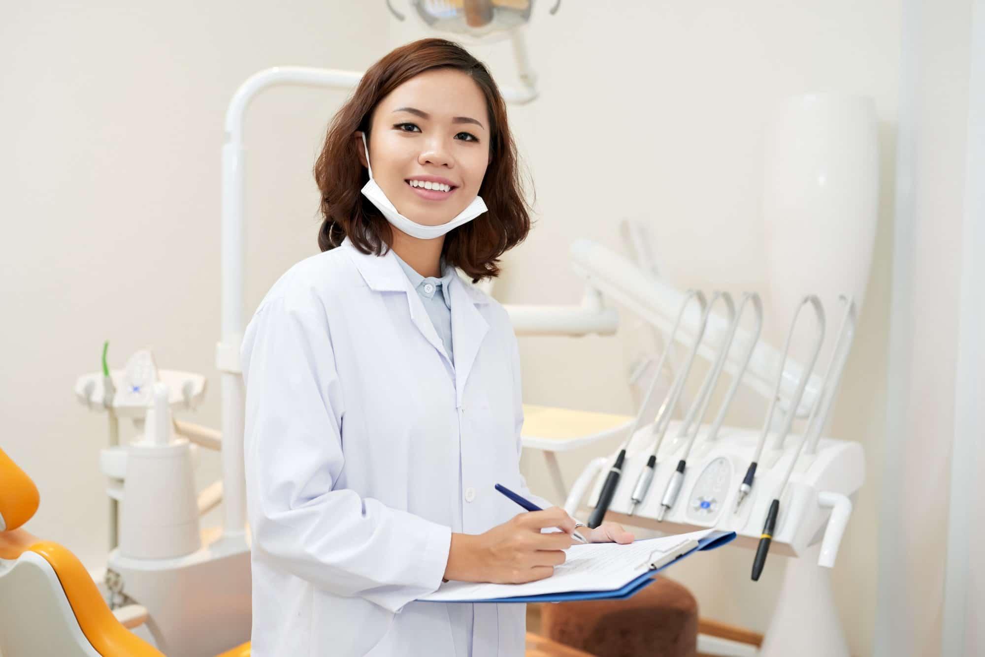 Pretty young dentist